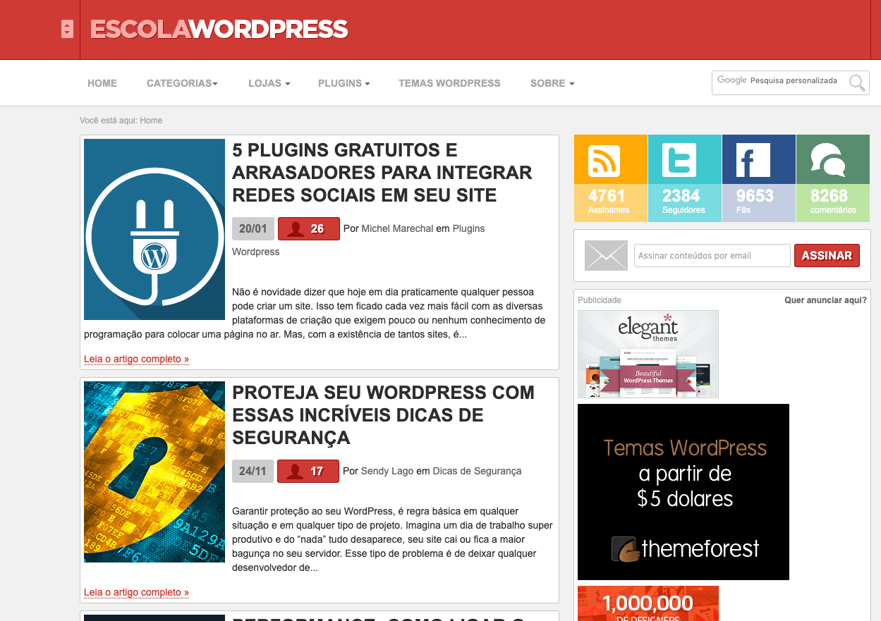 escola wordpress