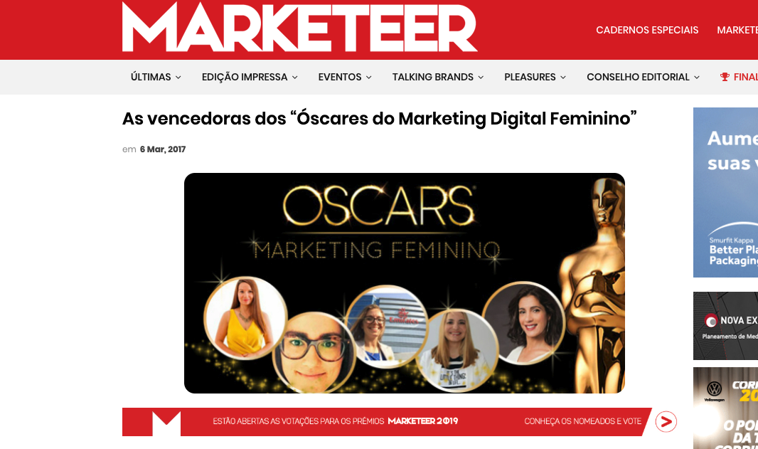 oscares do marketing no feminino