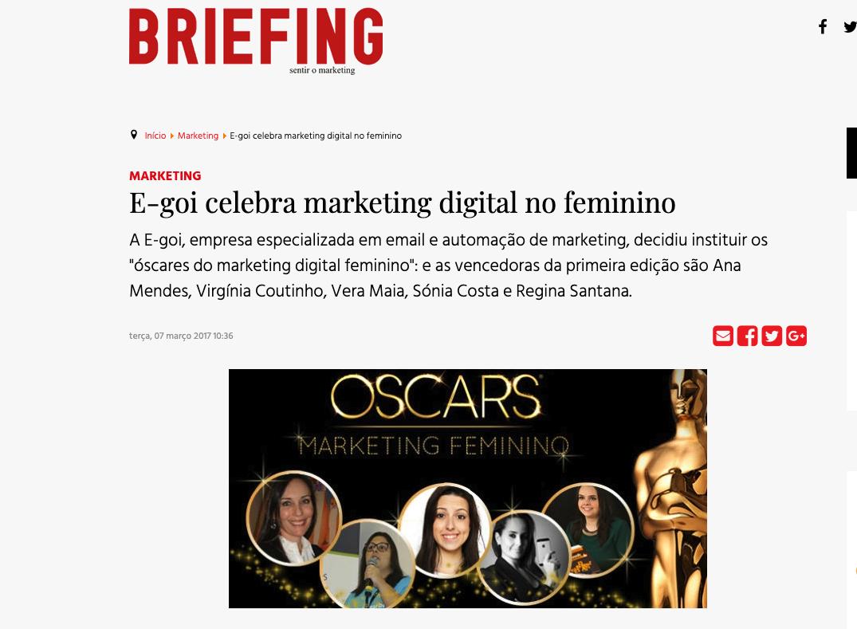 oscares do marketing no feminino